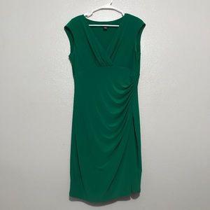Lauren Ralph Lauren Green Faux Wrap Dress